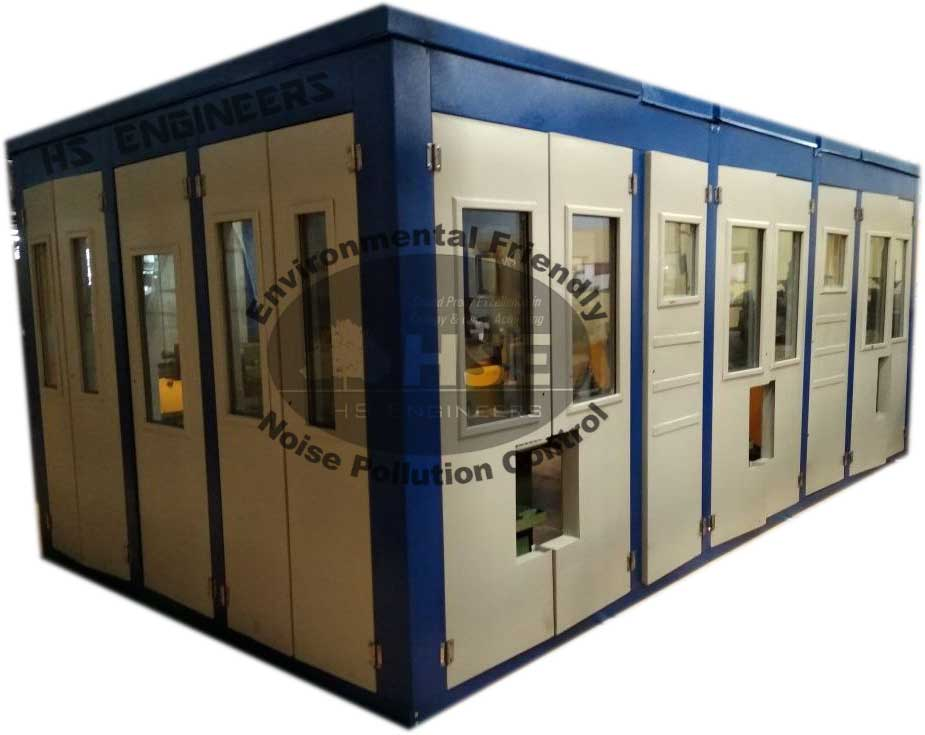 Wire winding machine soundproof enclosure